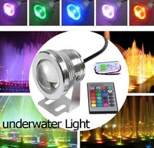 10W 12V 16 colores luz subacuática RGB LED luz de la piscina Piscina Acuario Fuente de luz LED cambiable Paisaje Lámpara subacuática(China (Mainland))