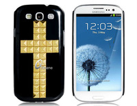 Cross Rivet Protective Case for Samsung Galaxy S3/i9300 Cell Phone     LMS-0983D