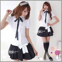 Free shipping, new hot Sexy female secretary girl wear multiple set short skirt game school uniform costumes for women.
