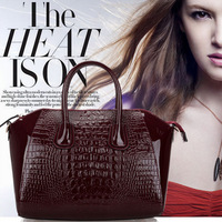 2014 new brand  quailty genuine leather bags for women messenger bags Crocodile designer handbags totes shoulder bag wholesale
