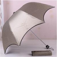 anti-uv structurein moonlight dot color plastic coating sun protectionfolding umbrella black-matrix free shipping