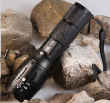 Cost Price 1 Set UltraFire E17 Touch Cree XM-L T6 2000 Lumen XML LED Light Zoomable Life Waterproof Flashlight , Free Shipping(China (Mainland))