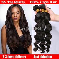 Peruvian virgin hair loose wave queen hair products 3pcs lot  cheap 100% human hair bobi boss hair