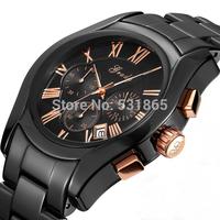 2013 free shipping china make sale waterproof black ceramic watch