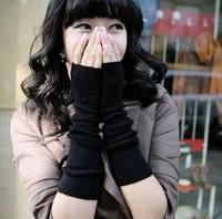 1 pair  winter autumn Style arm modeling wrist Fingerless Gloves ladies wrist cuff Half Finger  warm Gloves