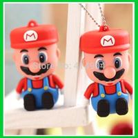 Cartoon mini Super Mario model 8GB 16GB 32GB USB Flash Drive Thumb/Car Pen 64g drive Personality Gift Freeshipping