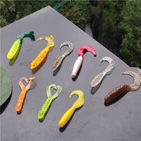 Promotion ! Fishing Lures 100pcs/ Lot Soft Mix Color Lifelike maggot Grub Minnow Bait Fishing Tackle Trout Crap Lure Fishing