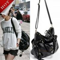 high quality free shipping HOT New Autumn And Winter Lady Korean Hobo PU Tassel Leather Handbag Shoulder Bag Large Capacity Z