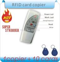 Voice prompt 125Khz RFID Copier/ Duplicator/ Cloner ID EM reader & writer with 10pcs EM4305 writable colors keyfob
