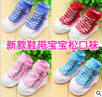 Min Order 5$. 0-12 months baby toddler shoes Baby Socks , solid Newborn socks, Cute fake shoes sock