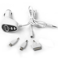 Best Selling  4-in-1 FM Transmitter Modulator with Car Charger for iPhone/iPod /Nano/ Blackberry / Sony Ericsson / HTC