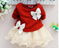 4pcs/lot Children clothing baby girls dresses for autumn -summer kids lace princess long-sleeved tutu dress girls' dress