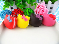 New 5.5cm Kawaii Squishies Bun Bag Charm Wholesale Free Shipping Cartoon Hello Kitty Squishy Cake/Mobile Phone Chain/Phone Strap
