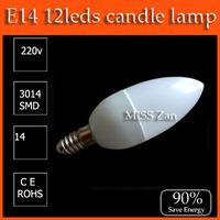 10pcs/lot LED candle light E14 3W SMD 220V 230V 240V  Warm White / Cool White CE&ROHS Free Shipping / China post