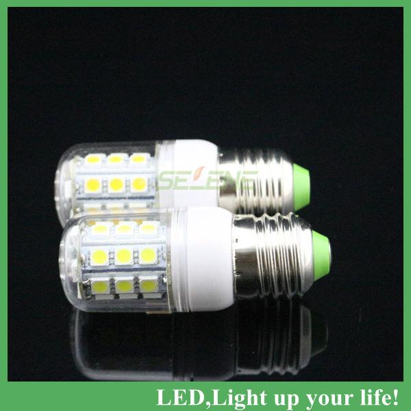 1pc free shipping 4 w  led corn light lamp bulb  lighting E27 SMD5050*27leds 4w 220v led corn lamp led 220v corn lamp