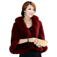 2014 Royal Mink Fur Coat Ladies Fur Clothes Fashion Winter Outerwear Coats Real Fur Mink Jacket Knitted Cape for Women LQ01004