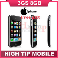 FREE GIFT ! in sealed box 100% original factory unlocked iphone 3GS 8GB mobile phone  Freeship1 year warranty