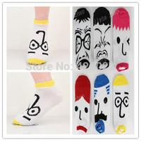 20piece=10 pair=1 lot, men and women sock cute Cartoon characters Cotton Blends ankle socks plus size