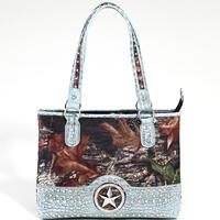 Designer Inspired High Quality Women Leather Handbags Shoulder Bag Studded Camouflage Purse Crocodile Pattern Handbag
