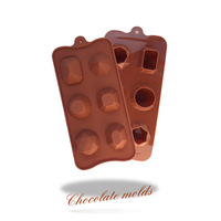 Variety of gemstone shape chocolate mold/cake mould / cake baking tools / food grade silicone mold free shipping