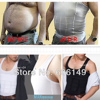 MENS SLIMMING UNDERWEAR VEST BODY SHAPER BELLY BUSTER COMPRESSION SHIRT  (Size S- XXL) Wholesale 100pcs