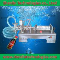 Pneumatic liquids filler cleanser cream filling machinery perfume packaging tools equipment beverage oil bottling packer 500ml