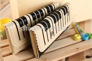 women's wallet  Design wallet female card wholesale 2014 piano keys notes long holder bag