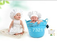 New Cute Baby Infant Cook Clothing Set Photo Newborn Toddler Boy Girl Lovely Carters Dresses Hats Photography Props