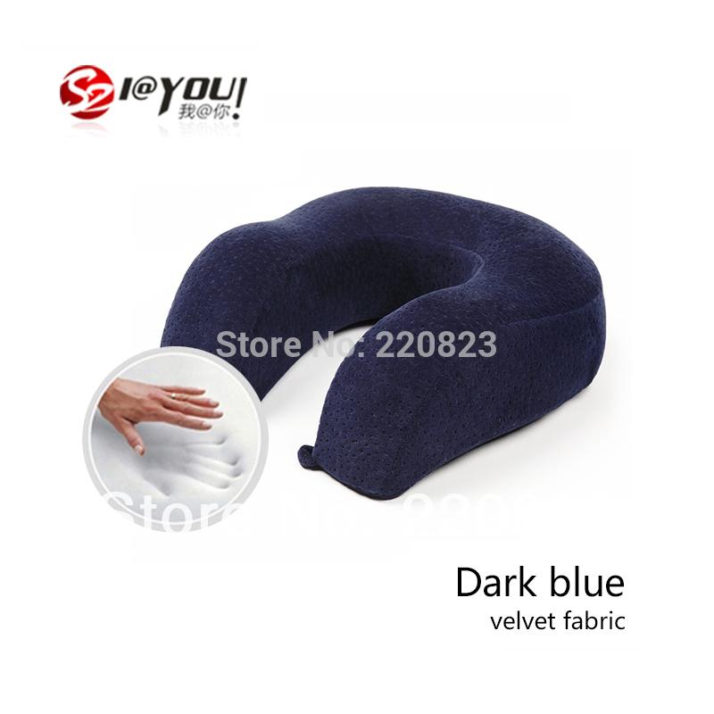 IAY free shipping 1pc Factory Direct 100% memory foam pillow with memory, pillow u 30x30x11cm flight travel pillow reduce stress(China (Mainland))