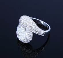 Top Grade Cubic Zirconia Crystal Wedding Rings Lovers Marriage Anniversary Gifts High Plating Quality Free Shipping