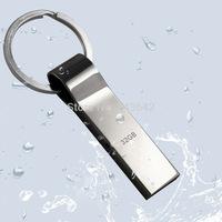 Real capacity New usb flash drive 8GB 16GB 32GB Silver keychain shape waterproof USB 2.0 Flash Pen Drive Disk Memory Sticks