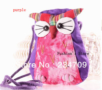 Free shopping,The new national characteristics the owl zero wallet women messenger bags/coin purse/ wallets/handbags,1 pcs/lot