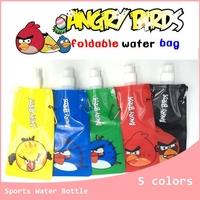 20pcs/lot Convenient Cartoon birds Portable Folding Foldable Sports Water Bottle Bag Foldable Drink Water Bottle outside