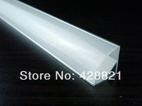 50m/Lot  1616 corner aluminum profile fitted with FROSTED/OPAL/TRANSPARENT cover for 8-10mm led strips right angle
