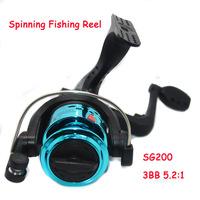 3BB 5.2:1 Spinning Fishing Reel SG200 Fly Fishing 200 Balancing System Fishing Tackle Line Wheel Advanced spinning Wheel Type