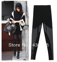 Blackmilk and lmitation Leather Patchwork Cheap Leggings For Women Hot Sales and Free Shippin