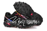 2013 Brand Zapatillas Running Shoes Mens Athletic shoes Salomon Speedcross III Breathable Hiking Shoes 12 Colors Size 40-45