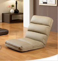 Leather Furniture Online for Living Room Beige Color Floor Foldable Seating Adjustable Reclining Chair Lounge