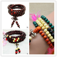 Wholesale New Charming Handmade Fashion 108*6mm Sandalwooden Beads Bracelets/Buddha Rosary Prayer Mala Free Shipping wholesale