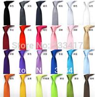 Fashion! Formal Wedding Party Groom Men's Solid Color Slim Plain Men Tie Necktie 20 Colors Pure color Neck Tie 5 cm