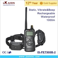 New 1000m remote control dog training collar for 2 dogs with LCD display & memory function/multi dog training system