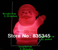 Hot!10pcs / lot Automatic Colorful LED Santa Claus Night Light Room Decoration Atmosphere Lamp Christmas Gifts Free Shipping