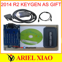 With Bluetooth  2014 R2 KEYGEN IN THE CD Newest Version TCS cdp pro plus new vci LED CAR and TRUCK