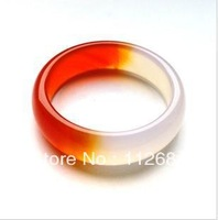 Red and white agate rings