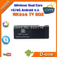 Free shipping MK808 MK808B Dvb t2 Android 4.2 mini pc rk3066 1G 8G TV Box wifi skype XBMC TV Dongle dual core smart tv stick