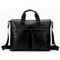 2015 fashion soft leather handbag designer brand vintage PU leather bolsos men briefcase laptop bolsas business men travel bags