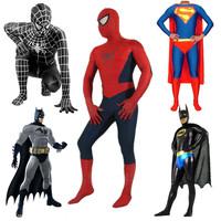 High quality Halloween Mens/Boys Red Black Spiderman costume adult Lycra Spandex zentai SuperHero cosplay costumes 2 colours
