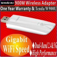 TENDA W900U 900M 900Mbps 2.4GHz+5GHz Performance Dual Band Wireless N WIFI USB Adapter 802.11abgn adaptor for Gigabit WiFi Speed