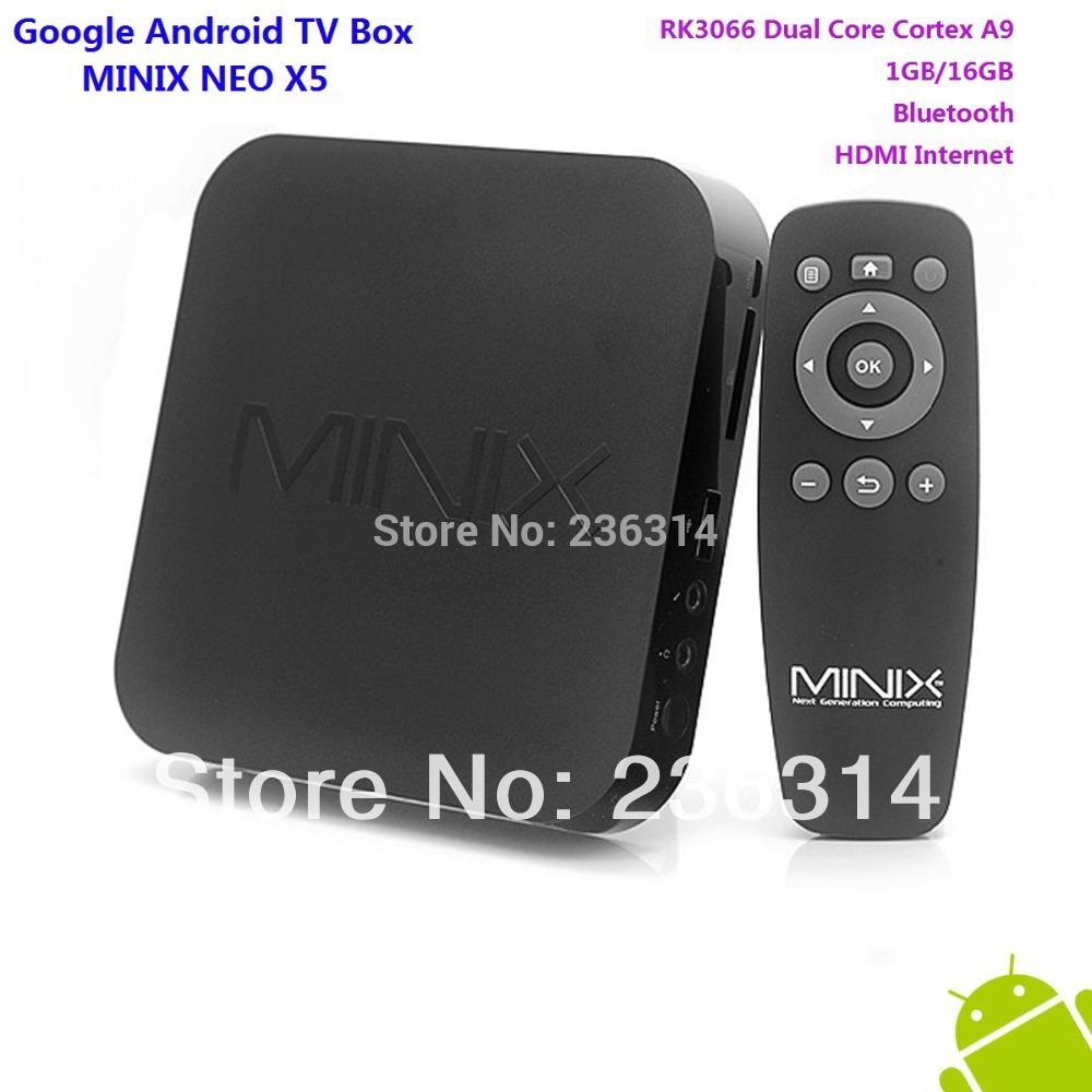 Good!! MINIX NEO X5 RK3066 Dual Core Cortex A9 Google Android TV Box 1GB/16GB Bluetooth HDMI Internet Smart TV Box free shipping(China (Mainland))