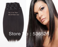 "Best Quality clip in hair extension Synthetic Hair,16""18""20""22""24""26 28""10pcs/set,170g/5.99oz Free shipping #2 Darkest Brown"